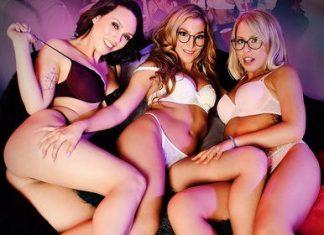 """Jade Nile, Moka Mora, and Zoey Monroe in """"Silicon Valley Sex Party"""""""