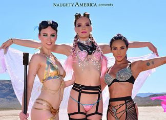 "Christiana Cinn, Jade Nile, Kenna James in ""Burning Man 2019"""