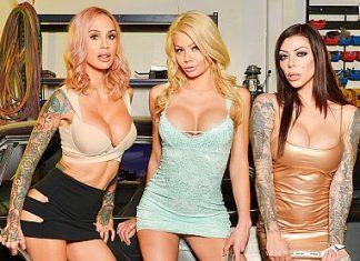 """Karma Rx, Riley Steele, Sarah Jessie in """"The Mechanic"""""""