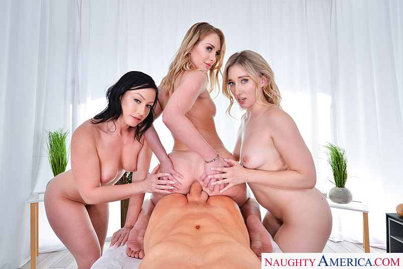 "Daisy Stone, Jennifer White, Riley Reyes in ""The SPA: Anal Edition"""
