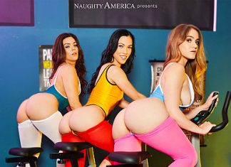 "Diana Grace, Kenzie Madison, Kimber Woods in ""Big Butt Workaut"""