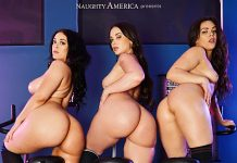 Get ready to work out that ass! Watch three hotties strip down for you at the gym. Fuck them all over the place in this immersive VR video.