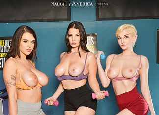 "Gabbie Carter, LaSirena69, Skye Blue in ""The Gym 3"""