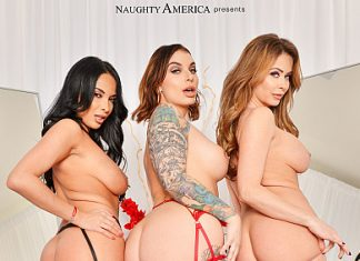 "Anissa Kate, Emily Addison, Ivy LeBelle in ""The Dressing Room 6"""
